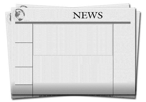 Blank newspaper front page template newsletter templates for Create your own newspaper template