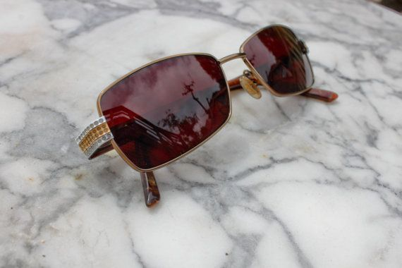 Vintage Gucci Square Sunglasses with Jewel Detail by BvntgBoutique