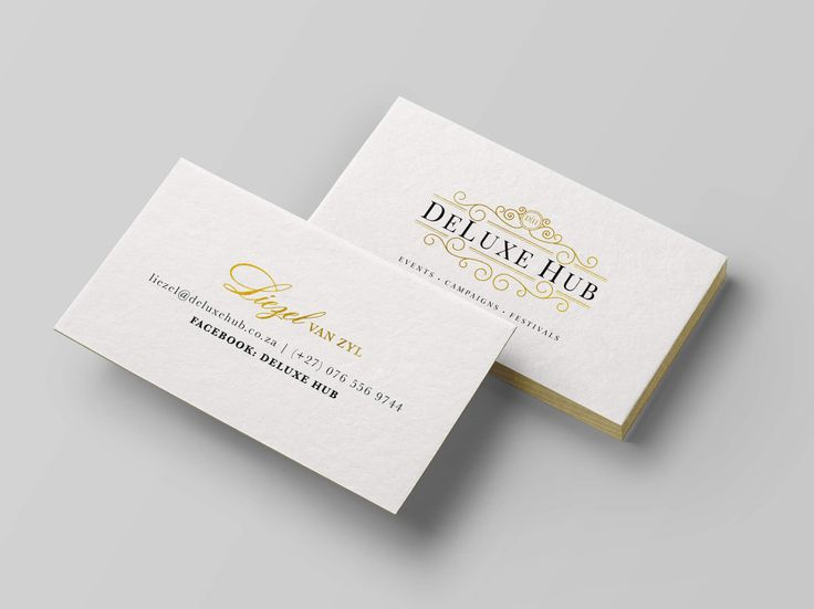 Business Card design for DeLuxe Hub by Pink Pigeon Graphic Design © www.pinkpigeon.co.za