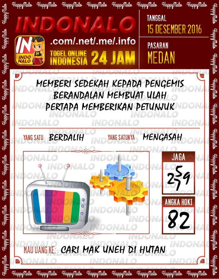 Tafsir Lotre 2D Togel Wap Online Live Draw 4D Indonalo Medan 15 Desember 2016