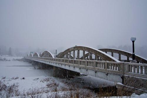 Bridge Street Bridge is a five span rainbow arch bridge which spans the Grand River in the Bridgeport area of Kitchener, Ontario, Canada