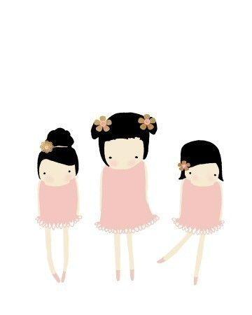 nursery art, kids room, kids art, ballerina, pink artwork, digital art print, poster, kids bedroom - THE DANCE.