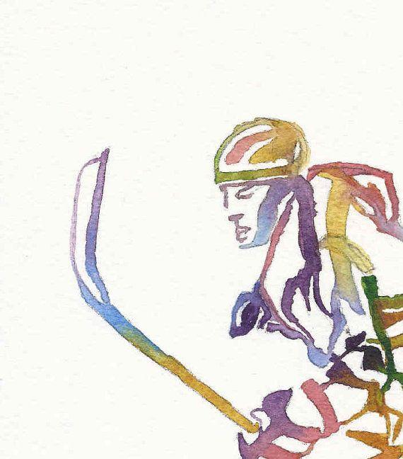 Ice Hockey Print, Hockey Wall Art, Hockey Painting, Olympic Sport Art, Athlete…