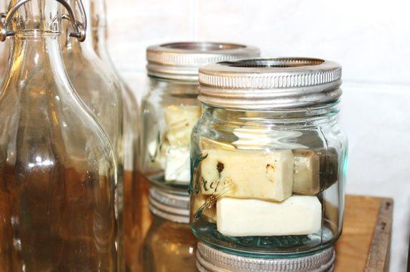 Norgesglass med 6 forskjellige håndlagte såper.