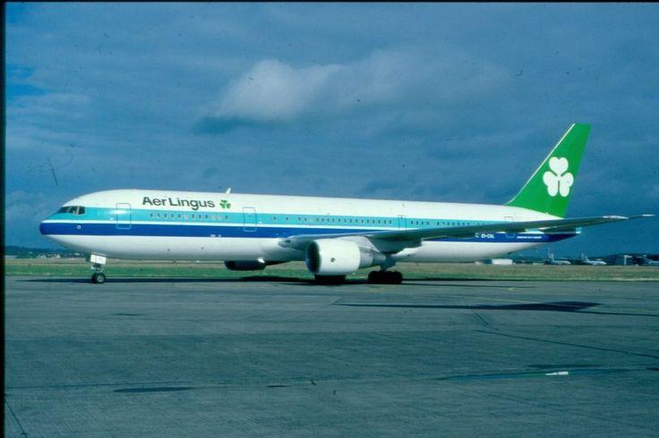 EI-CAL  AER LINGUS  B767-300  AIR ARUBA CS ORIGINAL KODAK SLIDE
