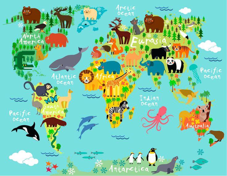 Παγκόσμιος χάρτης διακόσμηση για παιδικό δωμάτιο. http://www.printcenter.com.gr/xartes.html