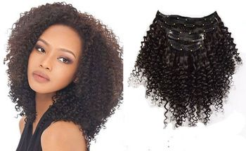Mega Hair Tic Tac Encaracolado Cabelo Humano 39 cm 80 gramas #1B Preto Natural //Price: $219.49 & FREE Shipping
