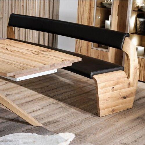 V Alpin Leather Upholstered Bench