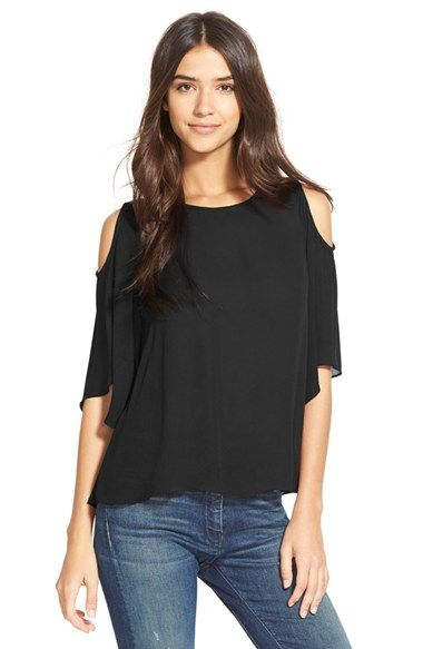 Sam+Edelman+Cold+Shoulder+Blouse+available+at+#Nordstrom