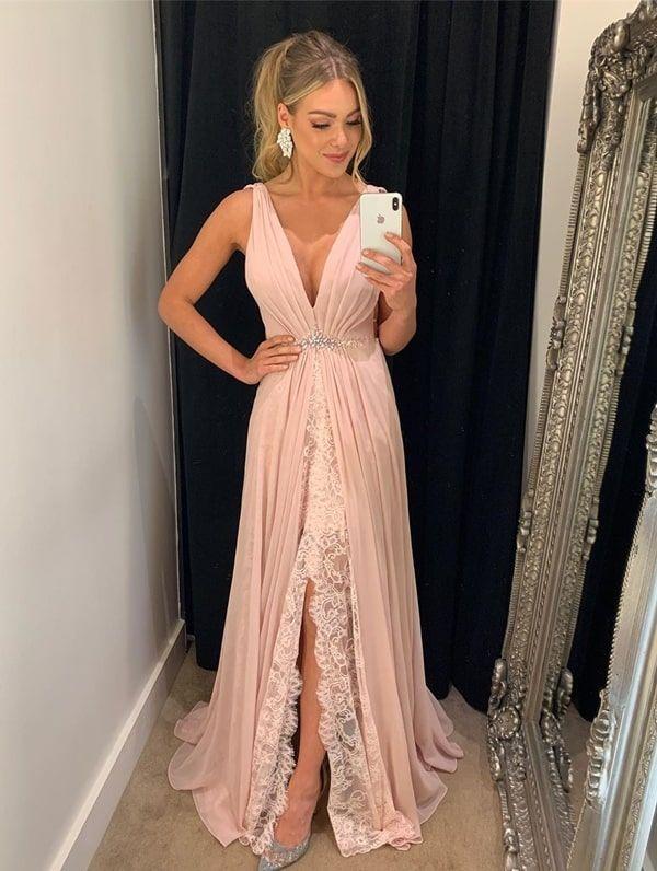 Vestido rose para madrinha de casamento 2019: seleção de vestidos longos in 2019 | Formal dresses, Dresses, Prom dresses