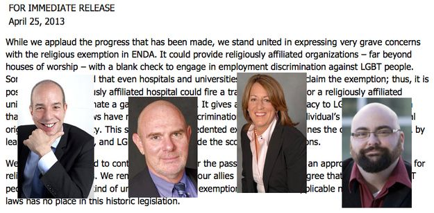 """ACLU, LGBT Groups Raise """"Grave Concerns"""" About Job Bill Religious Exemption"""