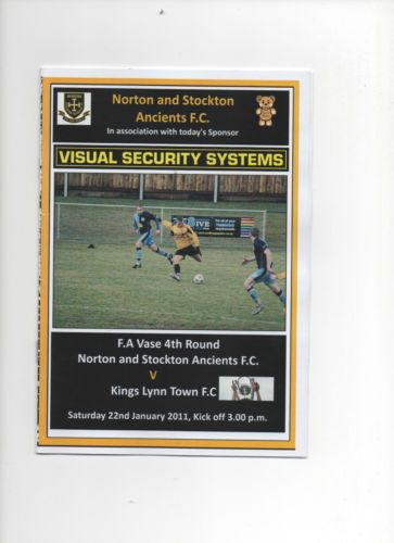2010/11 NORTON & STOCKTON ANCIENTS V KING`S LYNN TOWN (FA.VASE 4TH ROUND)