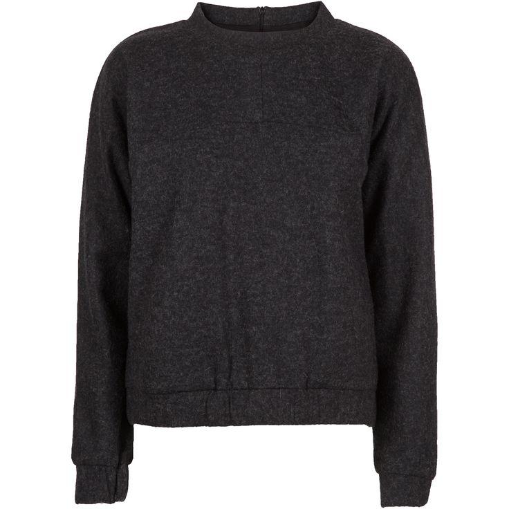 Gelatta wool top #sweater #wool #cut #warm #winter #dark #grey #amazing