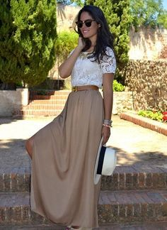117 best images about Maxi Skirt Outfits on Pinterest | Brown belt ...