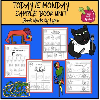 TODAY IS MONDAY BY ERIC CARLEColor and traceF is for fox trace Alphabet practice capitalTrace the lines Matching color-cut-glueCircle and color what is smallest Circle and color what is largest What comes next? color-cut-pasteWorking with numbers 1-4 Count and color Trace numbers 1-15Scissor practice Vocabulary cards Puppet SticksEric Carle Book UnitsToday is Monday Sample Book Unit by Eric Carle- Book UnitLonely Firefly by Eric Carle -Book UnitBusy Spider by Eric Carle -Book UnitPancakes by…
