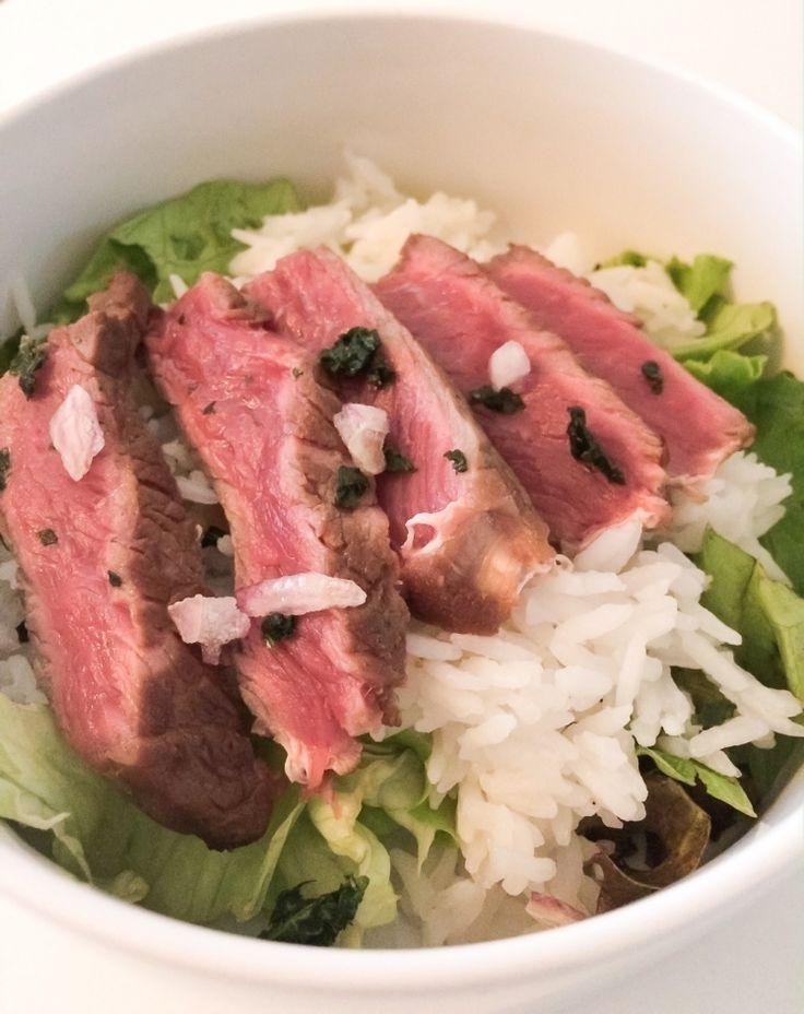boeuf façon tigre qui pleure, riz, boeuf / asian beef and rice chicandswiss.com