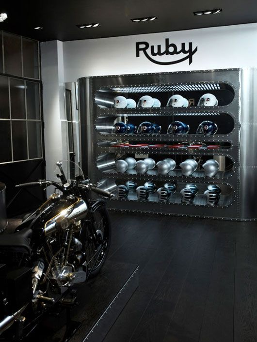 Interior Design For Motorcycle Lovers Showroom
