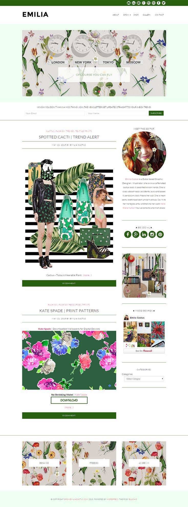 Chic blog design, using OLIVIE WordPress Theme from Bluchic http://www.bluchic.com/shop/wordpress-themes/olivie-theme/