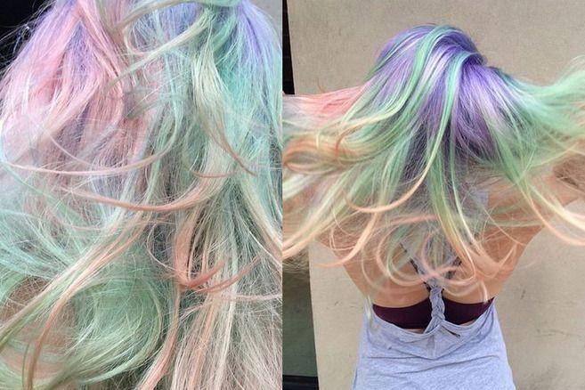 tendência para os cabelos Opal Hair