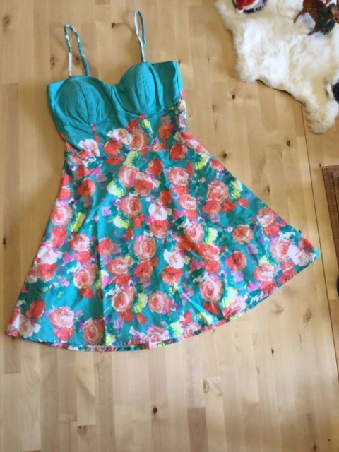 Summer cocktail dress with adjustable straps. Mini Dress. Flowery dress. Worn 1x | eBay