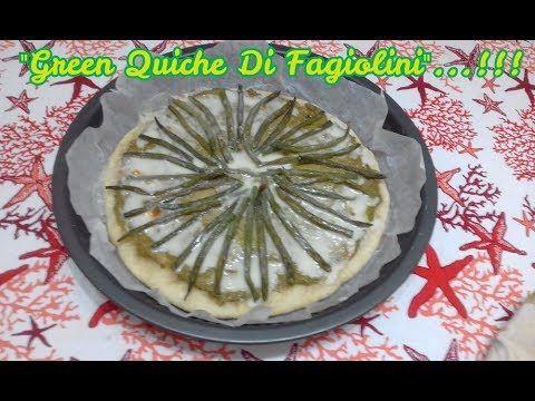 """""""Green Quiche Di Fagiolini""""...!!! #quiche #green #ricetta #ricette #food #tortasalata #tortesalate #fagiolini #yogurtgreco #pastabrise' #verdure trovate il #video sul mio canale #youtube 😉"""
