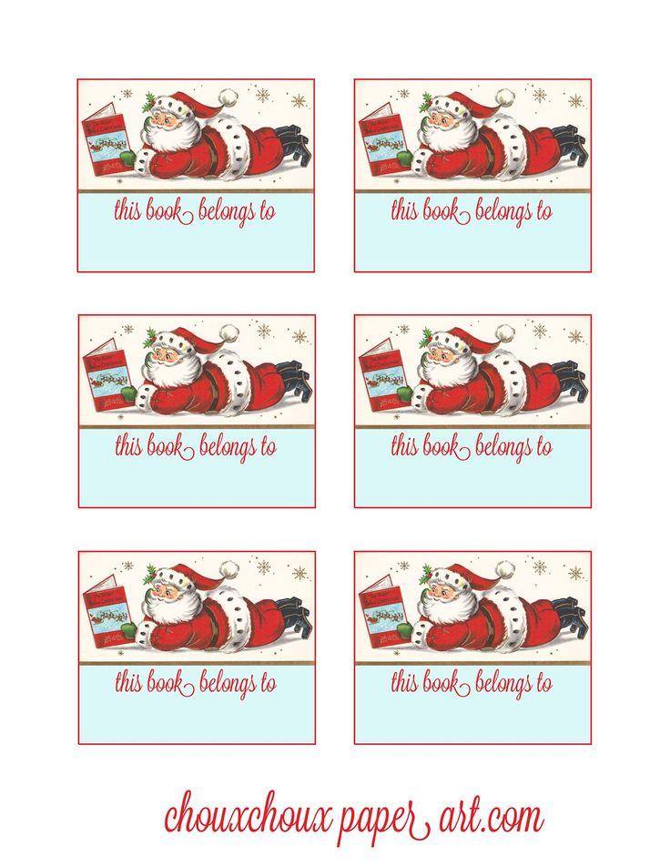 Lori Hairston: Santa Book Plates | Free Christmas Printables ...