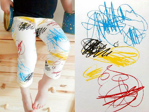 Scribbles Leggings By Double Yellow Line on Etsy