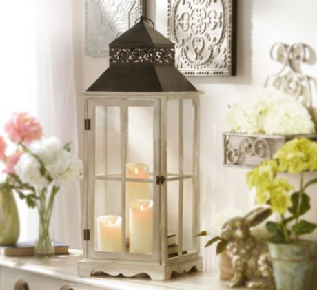 The Cambridge Metal Lantern is an excellent piece for inside OR outside #kirklands #enterinstyle