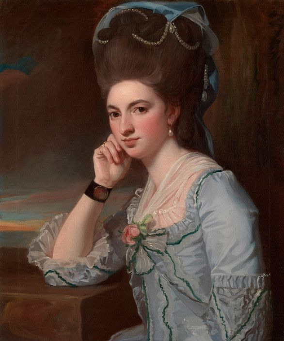 George Romney,  Portrait of a Young Woman in Powder Blue, ca. 1777.