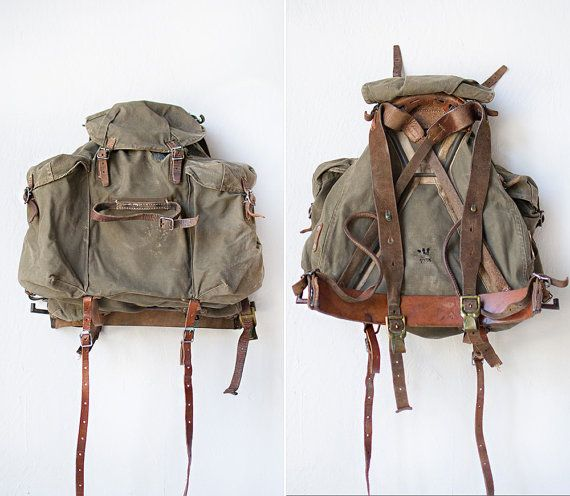 rare vintage swedish 1930s military backpack // by OrnHansen, $138.00