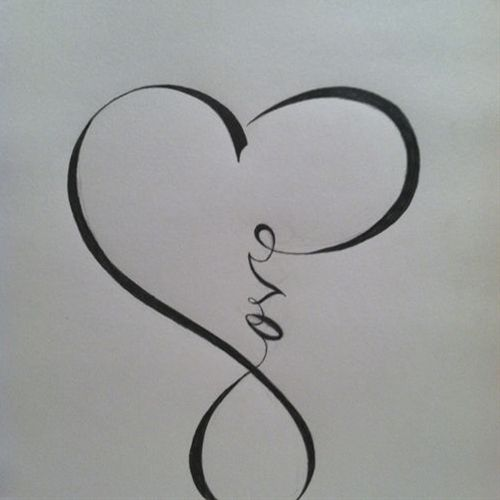 Love calligraphy that resembles the infinity sign . . . I want this as a tattoo