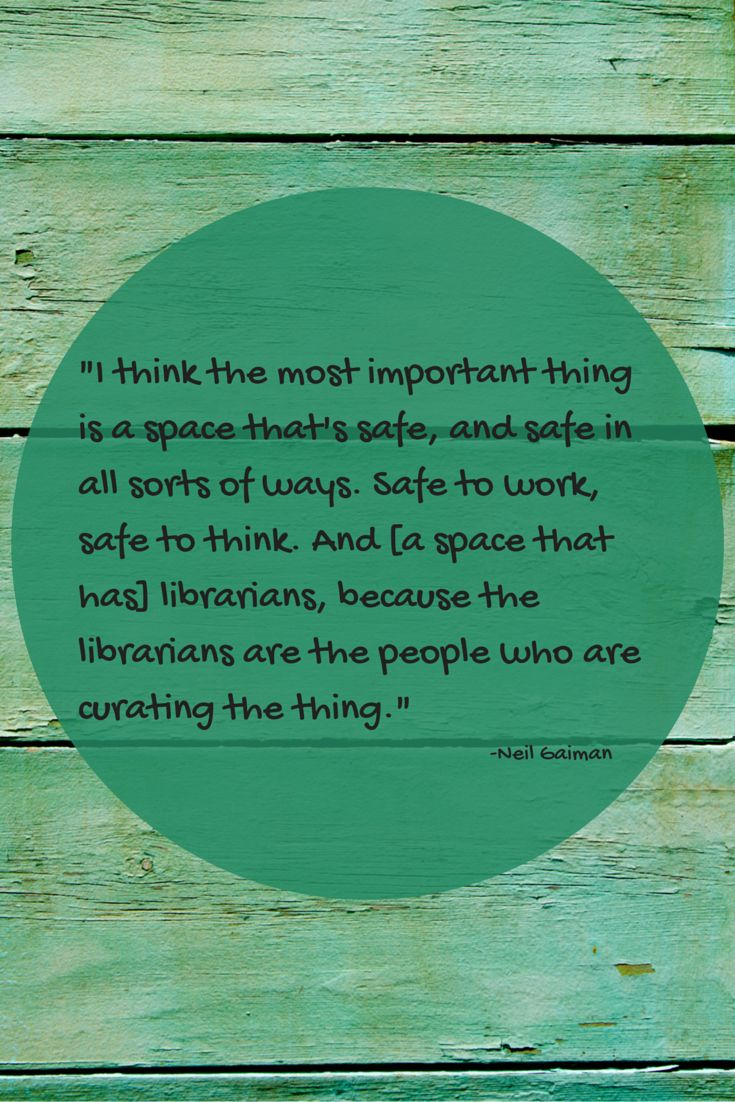 #library Quote From Neil Gaiman