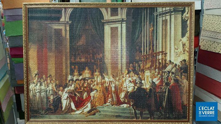 Superbe travail de L'Éclat de Verre d'Orléans: un puzzle de 4000 pièces, tendu et encadré. Dimensions finales: 138x98 cm