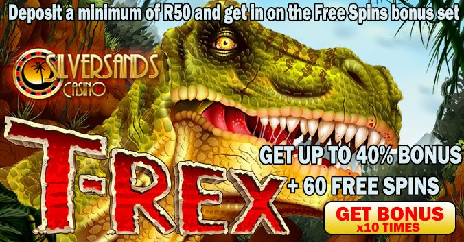 November Promotion at Silver Sands RAND Casino – PLAY T-REX SLOTS  PLAY NOW AT SILVERSANDS RAND CASINO - https://www.playcasino.co.za/goto/silver-sands-casino.html