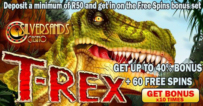November Promotion at #SilverSandsRANDCasino – PLAY T-REX SLOTS  PLAY NOW AT SILVERSANDS RAND CASINO - http://www.onlinecasinosonline.co.za/goto/silver-sands-casino.html