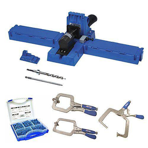 Kreg K5 Pocket-Hole Jig with Pocket-Hole Screw Kit and 3-pc Clamp Set  http://www.handtoolskit.com/kreg-k5-pocket-hole-jig-with-pocket-hole-screw-kit-and-3-pc-clamp-set/