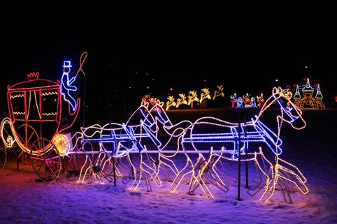 I just visited this very cool Festival of Lights in Burlington, Ontario: Lakeside Festival of Lights in Spencer Smith Park