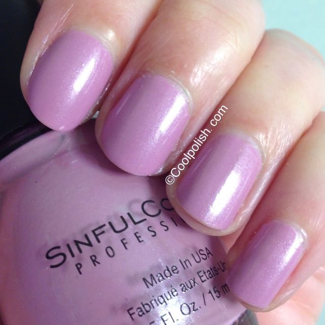 Sinful Colors Rose Dust: this is absolutely the best nail polish I have ever used! Does not chip on the ends and looks like it did when I first applied it early in the week.