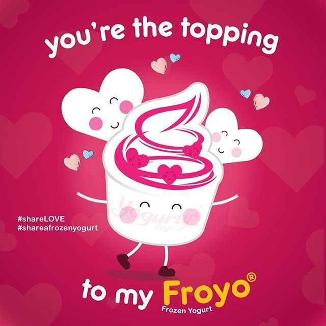 Who's the topping to your Froyo® frozen yogurt? 💕 Tag them and bring them to Yogurty's for a sweet Valentine's Day treat.  .  .  .  #YogurtysFroyo #Yogurtys #frozenyogurt #dessertgram #sweettooth #instafood #deliciousfood #torontofood #foodoftheday #desserttable #lifestyle #feedfeed #lovetoeat #eeeeats #desserttime #Canada #yyz #yyzliving #yyzeats #narcityCanada #dailyfoodfeed #foodiegram #thedailybite #makemoments #foodfeeddaily #tastethesix #igerstoronto #exploreOntario #ValentinesDay…