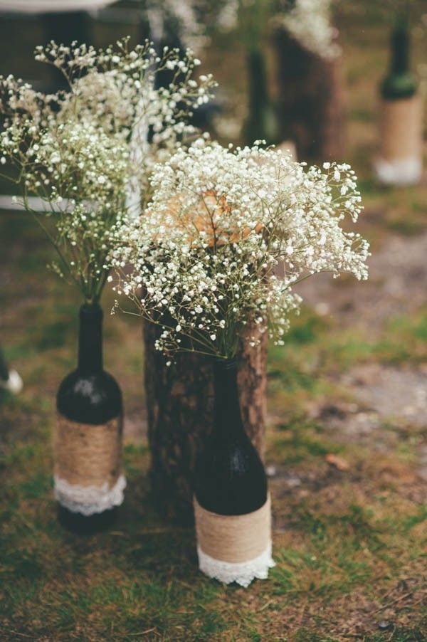 Bottles of baby's breath | Joelsview Photography