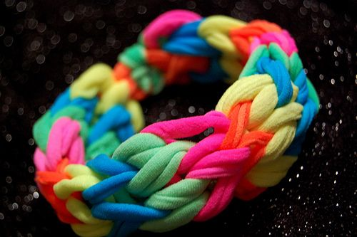 Finger Loom Bracelet Craft Ideas Pinterest Neon