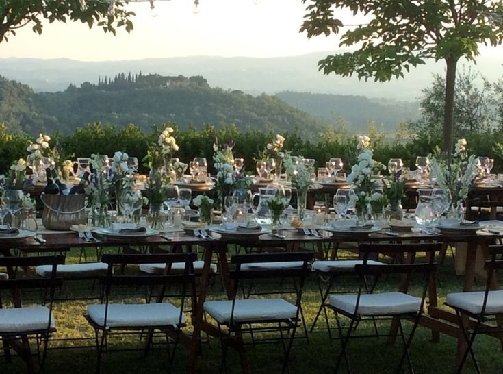 COUNTRY CHIC CHAIRS Tuscan landscape WEDDING