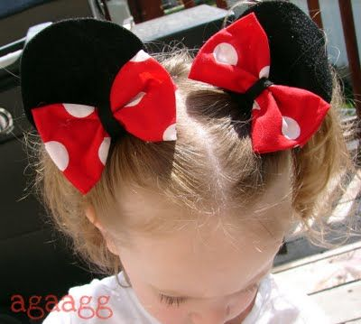 Mickey Mouse ears: Hairs Bows, Idea, Mickey Mouse, Glue Guns, Felt Diy'S, Heart Sounds, Mouse Ears, Minis Mouse, Minnie Mouse