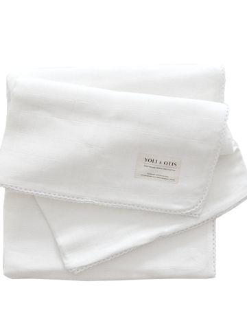 Yoli and Otis Artesian Blanket in Sun White – Salt Living or online at www.saltliving.com.au #saltliving #yoliandotis #organic #baby #blanket