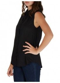 c(inch) | Sleeveless Shirt Black