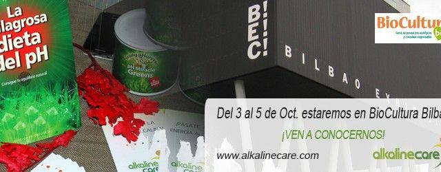 Estaremos presentes en BioCultura Bilbao. ven a conocernos. Los días del 3 al 5 de Octubre estaremos en la Feria de BioCultura en Bilbao. Aprovecha esta oportunidad para venir a conocernos, probar nuestros productos gratuitamente y hacerte el test de pH para saber cuán alcalino o ácido estás.   http://blog.alkalinecare.com/2014/09/24/estaremos-presentes-en-biocultura-bilbao-ven-conocernos/