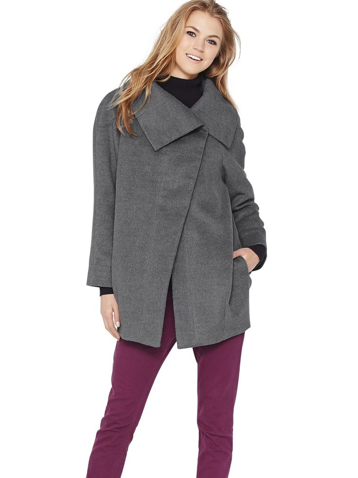 South Oversize Collar Cocoon Coat