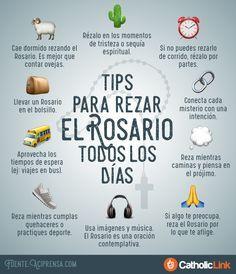 Infografía: Tips para rezar el Rosario todos los días