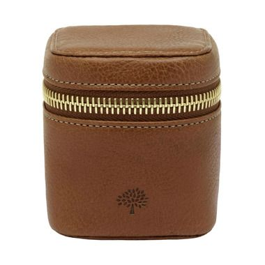Travel Adapter in Oak Natural Leather | Men's | Mulberry