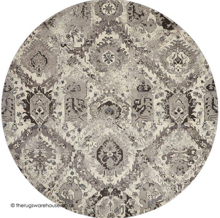 twilight chic tribal circle rug a viscose u0026 new zealand wool round
